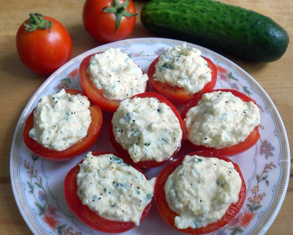 фаршированные помидоры яйцом рецепт