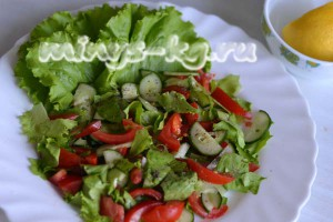 овощи перемешать