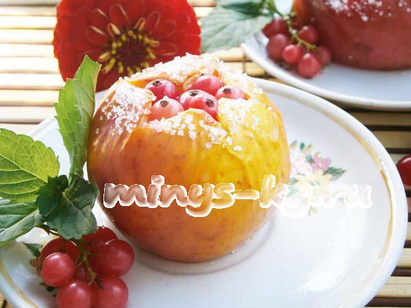 диетически фаршированные яблоки