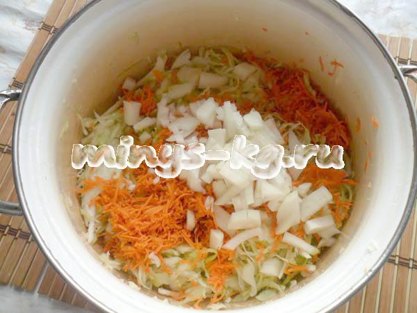 лук с морковью