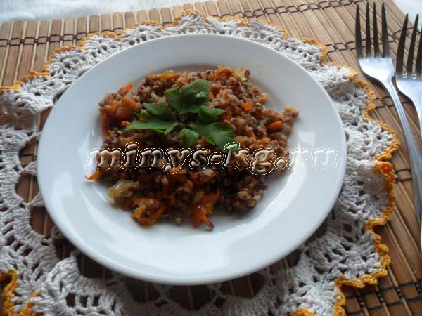 гречка с луком и морковью калорийность