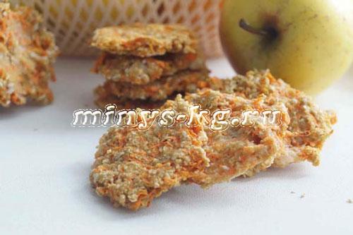 морковное печенье с творогом