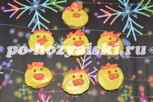 печенье петушки на новый год