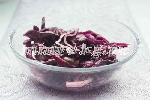 как приготвоить салат из краснокочанной капусты