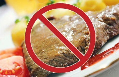 нельзя мясо при повышенной мочевой кислоте