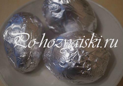 как запечь картофель в углях