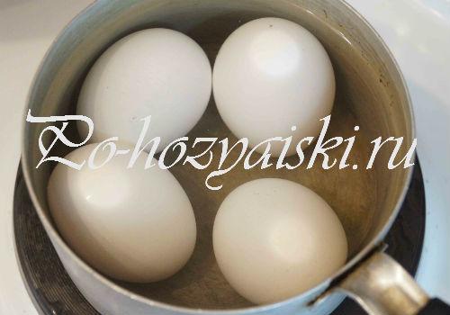 яйца нагреть