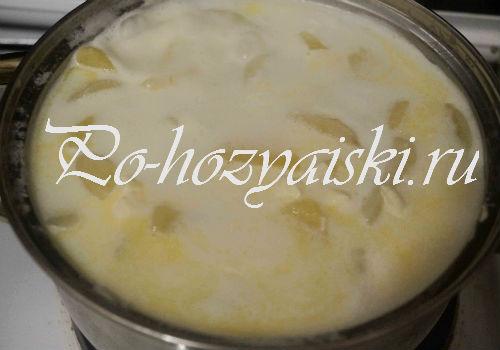картофель с плавленным сыром