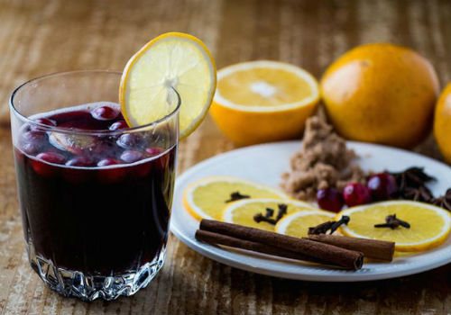 с виноградным соком
