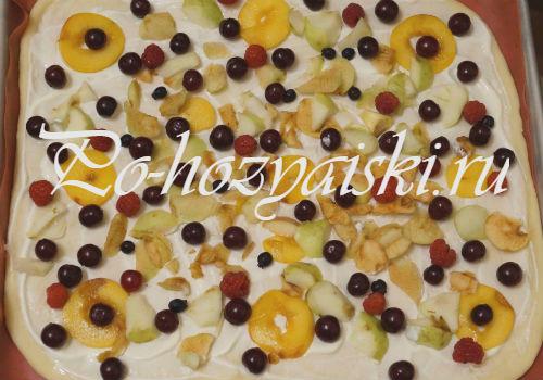 слой фруктов