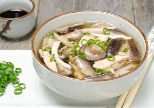 суп с шиитаке