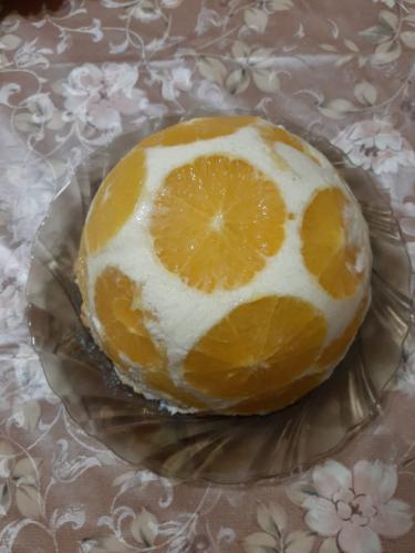 """Торт """"Бланманже"""" с апельсинами"""
