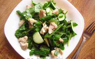 Как приготовить теплый салат с рукколой и мясом