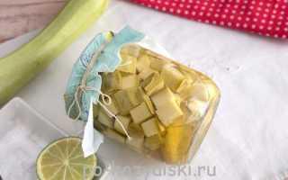 Ароматные кабачки как ананасы на зиму