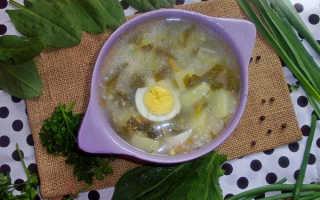 Зеленый суп с щавелем и яйцом: диетические и очень вкусное блюдо