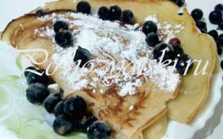 Медовые блины на завтрак — вкусные рецепты с фото