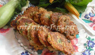 Диетические оладьи из кабачков без яиц