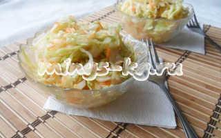 Салат из свежей капусты с уксусом, вкусно и низкокалорийно