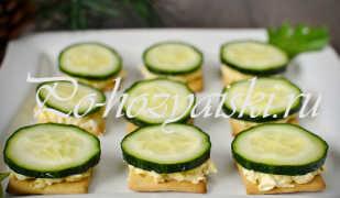 Канапе на крекерах — праздничный рецепт с фото
