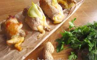 Рулетики из свинины с начинкой из кабачков и сыра