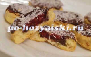 Печенье с желе в шоколаде, находка для сладкоежек