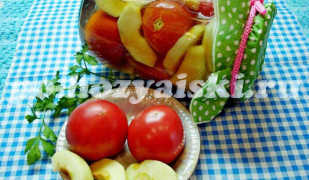 Консервированные помидоры с яблоками (заготовка на зиму)