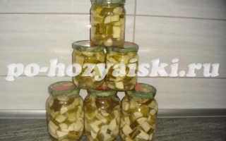 Маринованные огурцы с кабачками на зиму, вкусная заготовка