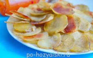 Остренькие картофельные чипсы в духовке