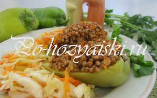 Болгарский перец, фаршированный гречкой — вкусные рецепты с фото