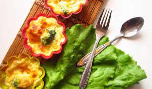Идея полезного завтрака: капуста брокколи запеченная с сыром