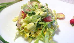 Салат из редиски со сметаной «Весенние нотки»