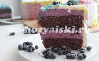 Шоколадный торт со смородиновым вареньем