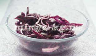 Салат из краснокочанной капусты, диетический рецепт с фото