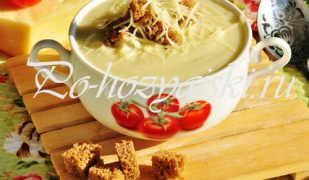 Как приготовить крем суп из цветной капусты с сыром и сливками