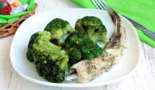 Рыба с овощами на пару, приготовленная в мультиварке