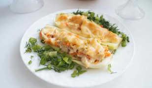 Фаршированные кабачки курицей: вкусное диетическое блюдо