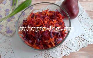 Салат из свежей краснокочанной капусты по типу «Щётки»