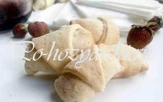 Рогалики на сметане и маргарине с вареньем — вкусные рецепты с фото