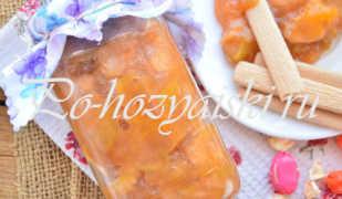 Персиковый джем — рецепт вкусный на зиму с фото