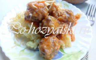 Мясные ежики с рисом на сковороде — рецепт с фото как приготовить