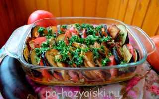 Как приготовить рататуй с баклажанами