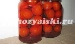 Ароматные помидоры с базиликом, заготовка на зиму