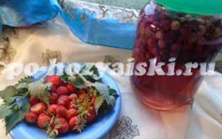 Как заготовить компот из ирги с ягодами клубники