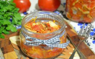 Заготовка овощного салата со скумбрией на зиму — рецепт с фото