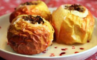 Печеные яблоки для похудения и во время диеты