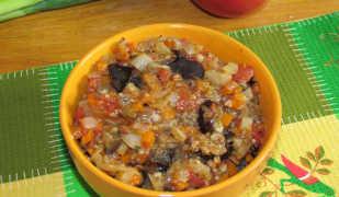 Диетическое овощное рагу с баклажанами