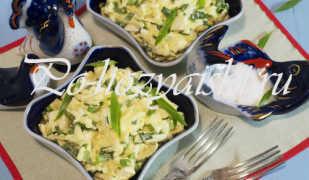 Низкокалорийный салат с яблоком и яйцом — рецепты с фото
