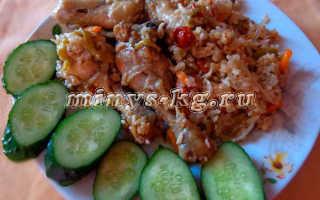 Рис с курицей в микроволновке для диетического питания
