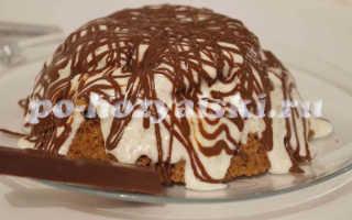 Шоколадный торт в микроволновке со сметанным кремом за 5 минут