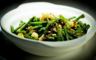 Стрелки чеснока со свининой по-китайски — рецепт с фото